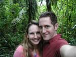 Robyn and I in the chunk of remaining cloud forest behind the lodge