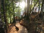 The path to our bungalow