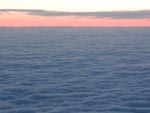 Sunset above the clouds somewhere on the eastern seaboard
